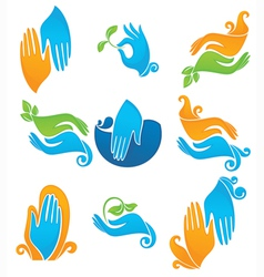 Clean and natural hands vector