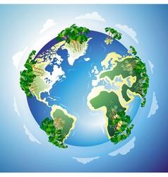 Worldwide resort concept vector