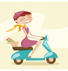 Scooter chick vector