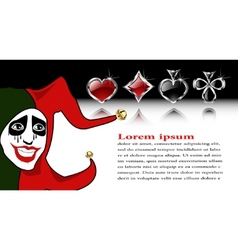 Joker background vector
