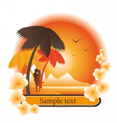 Logo tropical island vector