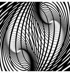 Abstract swirl movement illusion vector