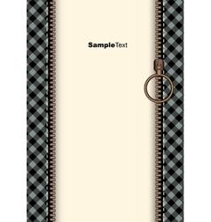 Zip border vector