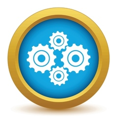 Gold new mechanism icon vector