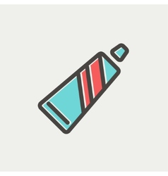 Tube of toothpaste thin line icon vector