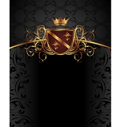 Gold vintage with heraldic elements - vector