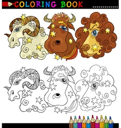 Fantasy animals characters for coloring vector