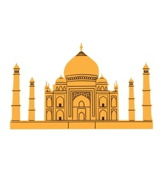 Taj mahal isolated on white vector