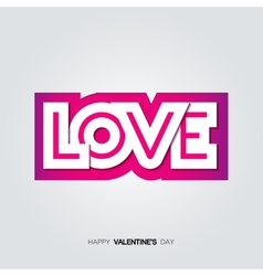 Paper inscription love cut from pink backdrop vector