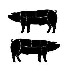 Pork-cutting scheme vector
