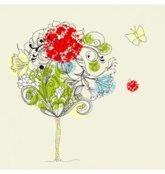Hand drawn tree sketch vector
