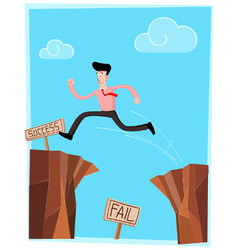 Crossing the cliff vector
