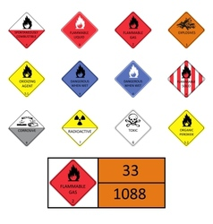 Warning signs symbols vector