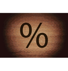 Percent flat modern web button and space for your vector