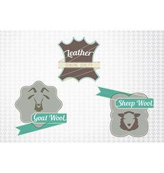 Textile fiber set vector