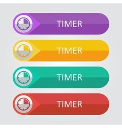 Flat buttons timer vector
