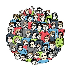 People group color version vector