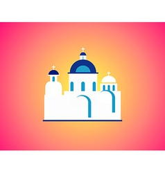 Church in greece vector