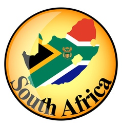 Button south africa vector