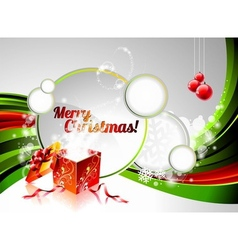 Holiday on a christmas theme with mag vector