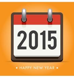 Calendar 2015 happy new year card vector