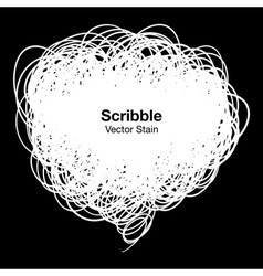Scribble white bubble vector