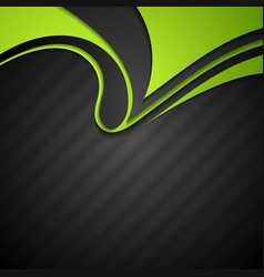 Vibrant corporate abstract background with wavy vector