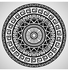 Ethnic ornament on white background vector
