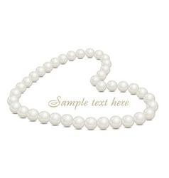 Pearl necklace vector