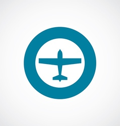 Airplane icon bold blue circle border vector