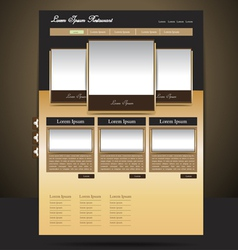 Classy-look restaurant website design vector