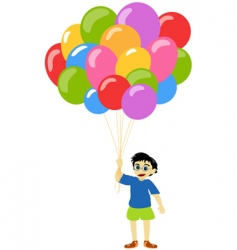Little boy with balloons vector