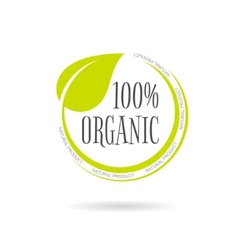 Organic product emblem on white background vector