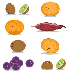 Funny fruits fun pack vector