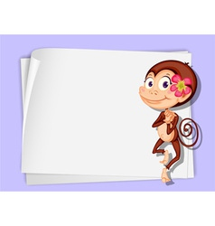 Cartoon paper space monkey vector