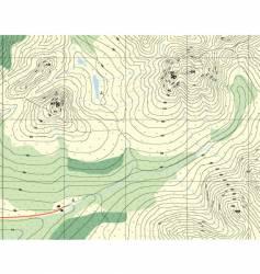 Contour map vector