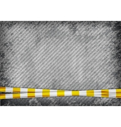 Texture grain grey with yellow tape vector