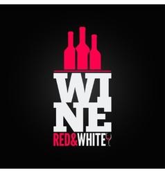 Wine bottle glass design menu background vector
