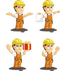 Industrial construction worker mascot 11 vector