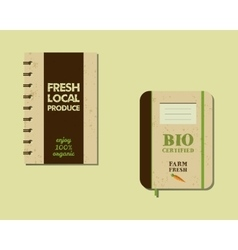 Stylish farm fresh brand book notebook templates vector