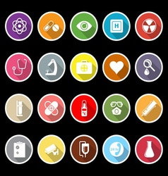General hospital icons with long shadow vector