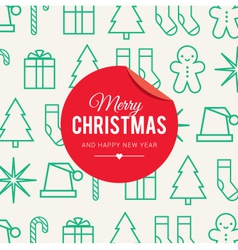 Christmas card icons vector