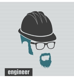 Icons engineer hairstyles beard and mustache vector