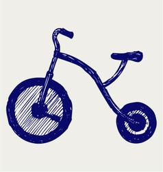 Tricycle child vector