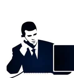 Business and phone call vector