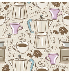 Background with coffee set vector