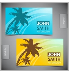 Set of creative tourism business cards vector