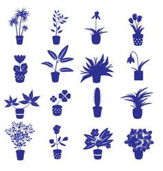 Home houseplants and flowers in pot eps10 vector