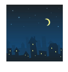 Night urban landscape vector