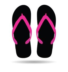 Flip flop in black color vector